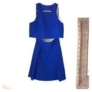 Black Halo Sanibel 2 Piece Mini Dress Cobalt 4